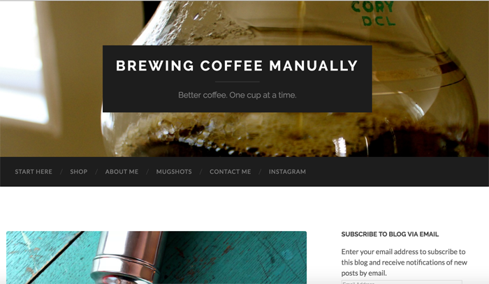 Brewing Coffee Manually Blog