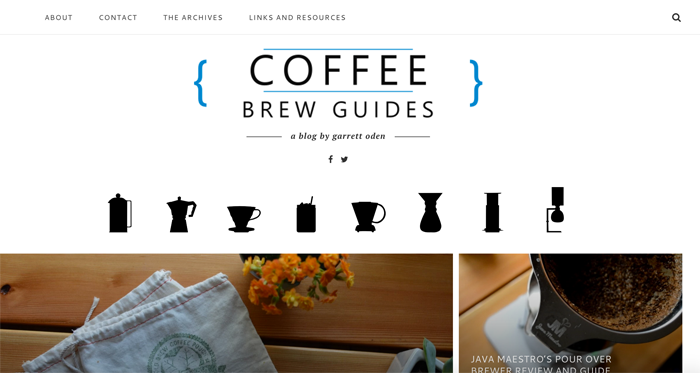 Coffee Brew Guides blog