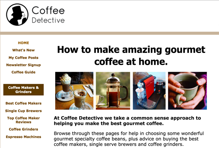 Coffee Detective blog