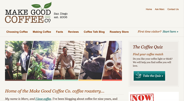 Make Good Coffee blog