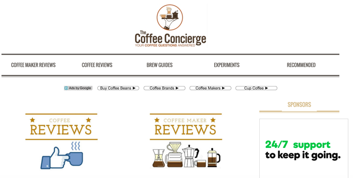 The Coffee Concierge blog