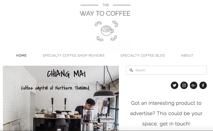 The Way to Coffee blog