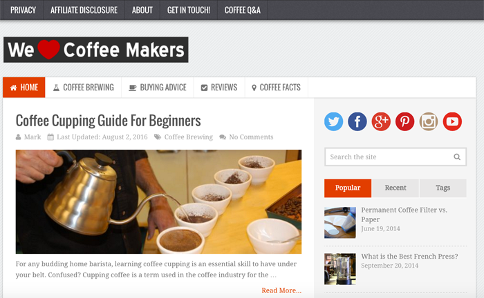 We Love Coffee Makers Blog