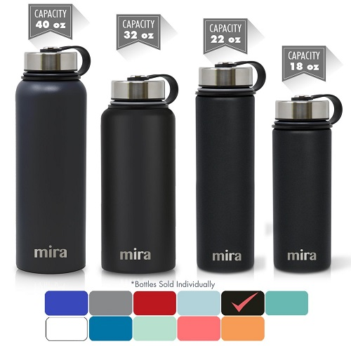 mira stainless steel vacuum insulated water bottle image