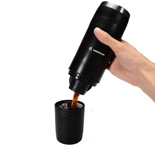 mounchain portable k cup travel coffee maker image