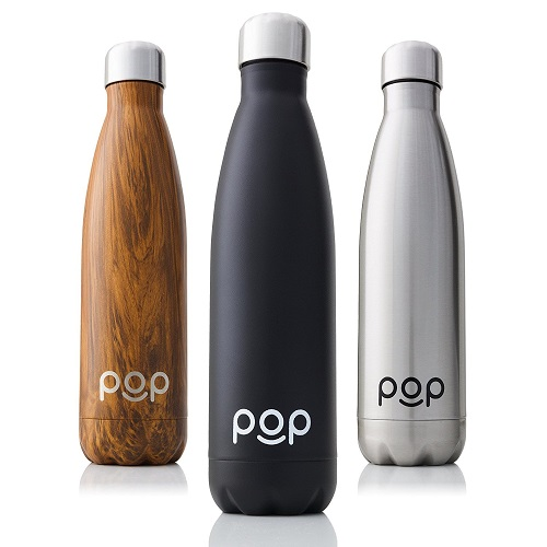 pop design stainless steel water bottle image
