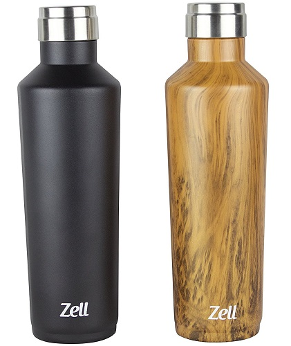 zell stainless steel vacuum insulated bottle image